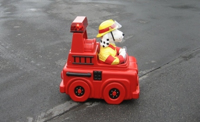 Sparky Fire Dog & fire truck